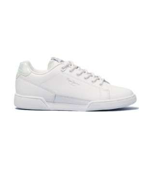 Buy Pepe Jeans Lambert Chic white leather sneakers