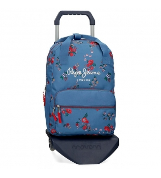 Buy Pepe Jeans Backpack with trolley Pepe Jeans Pam -30x40x13cm