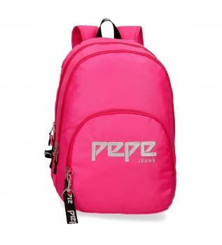 Acheter Pepe Jeans Sac à dos zippé double zip adaptable Pepe Jeans Uma fuchsia -31x44x15cm