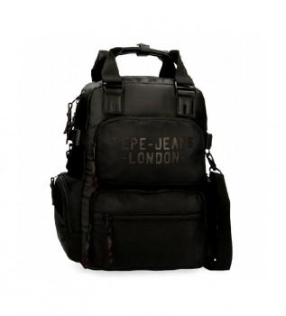 Acheter Pepe Jeans Pepe Jeans Sac à dos Bromley avec sac à bandoulière noir -28x41x7cm