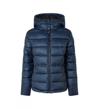Buy Pepe Jeans Camille Quilted Parka Navy