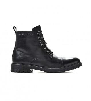 Acheter Pepe Jeans Bottines en cuir Porter noir