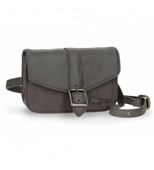 Buy Pepe Jeans Bum bag with shoulder strap Pepe Jeans Ann Gray -18x15x5cm
