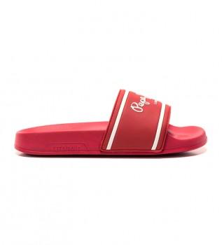 Buy Pepe Jeans Flip Flops Logo Boys red