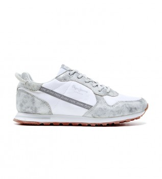 Buy Pepe Jeans Verona W Lurex Silver Lurex Sneakers