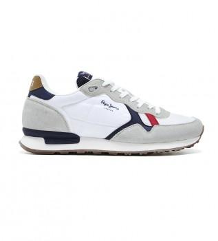 Acheter Pepe Jeans Sneakers Britt Man Basic blanc