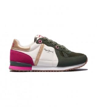 Buy Pepe Jeans Sneakers Sydney Combi Girl green, white, fuchsia