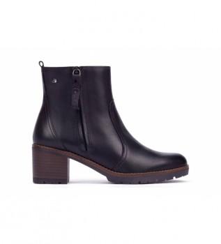 Acheter Pikolinos Bottines en cuir noir Llanes - Hauteur du talon : 6cm