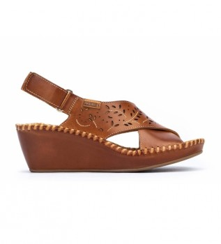 Comprar Pikolinos Sandalias de piel Margarita 943 marrón -Altura cuña: 5 cm-