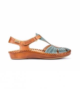 Comprar Pikolinos Sandálias de couro P. Vallarta 655-0575 turquesa