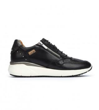 Comprare Pikolinos Sneakers Sella in pelle nera -Altezza zeppa: 4,3 cm-