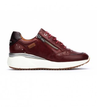 Buy Pikolinos Sella maroon leather sneakers