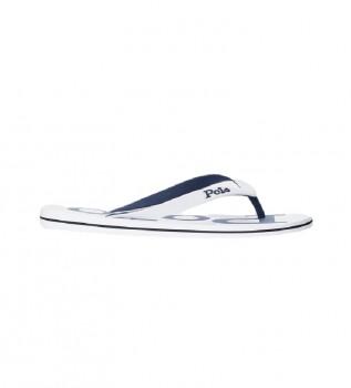 Buy Ralph Lauren Flip Flops with Bolt Logo white