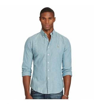 Buy Ralph Lauren Shirt 71054853838001denim sky blue