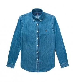 Comprare Ralph Lauren Camicia 710548539001 blu denim