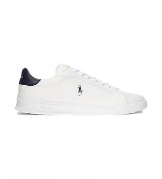 Comprare Ralph Lauren Sneakers Heritage Court II in pelle bianche