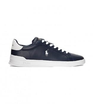 Comprare Ralph Lauren Sneakers Heritage Court II in pelle blu navy