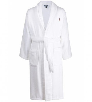 Buy Ralph Lauren Bathrobe L/S Shawl white