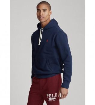 Buy Ralph Lauren Fleece Hooded Sweatshirt RL Navy
