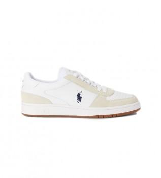 Buy Ralph Lauren Court leather sneakers white