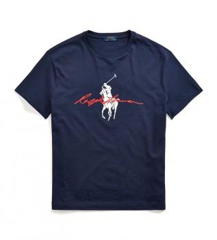 Buy Ralph Lauren Custom Slim Fit T-shirt with navy Big Pony