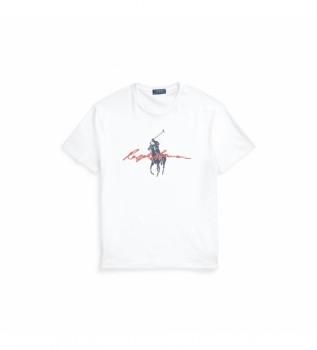 Comprare Ralph Lauren T-shirt slim fit personalizzata con Big Pony bianco
