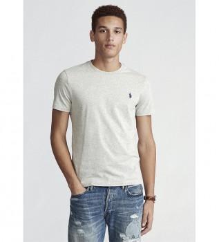 Comprare Ralph Lauren T-shirt grigia personalizzata in maglia slim fit