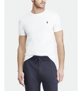 Comprare Ralph Lauren T-shirt bianca in maglia personalizzata Slim Fit
