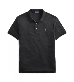 Buy Ralph Lauren Soft slim fit polo shirt black