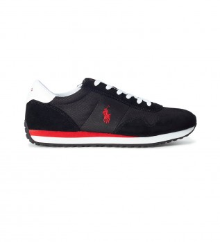 Buy Ralph Lauren Train 85 Athletic leather sneakers black