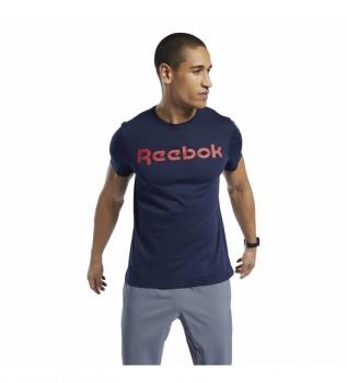 Acheter Reebok Série graphique T-shirt à logo linéaire bleu