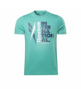 Comprare Reebok T-shirt con grafica Verbiage turchese