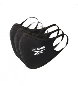 Comprar Reebok Pack de 3 Mascarillas Small negro