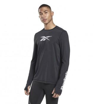 Comprare Reebok T-shirt manica lunga con grafica Run Activchill nera