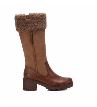 Buy Refresh Boots 078970 camel - 5 cm heel