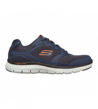 Comprare Skechers Sneakers Flex Advantage 4.0 in pelle blu navy