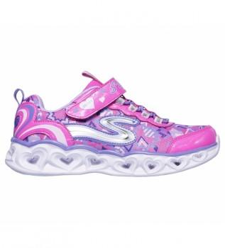 Buy Skechers Heart Lights pink sneakers