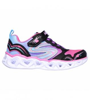 Buy Skechers Heart Lights Love Spark Sneakers black, pink