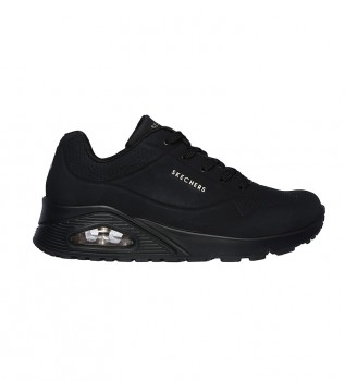 Buy Skechers Street Uno Leather Running Shoes Stand on Air black