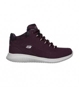 Buy Skechers Ultra Flex Just Chill burgundy leather shoes