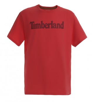 Acheter Timberland T-shirt K-R Brand Linear T rouge