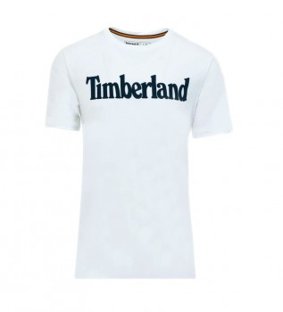 Comprare Timberland T-shirt bianca lineare Kennebec River Brand