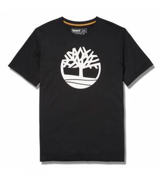 Comprare Timberland T-shirt nera Kennebec River Brand Tree