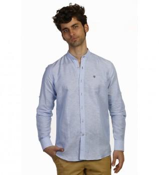 7374f830cc Camisa Lino Mao celeste