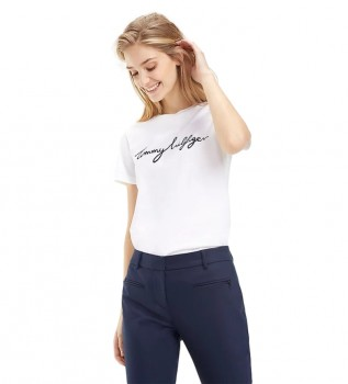 Comprare Tommy Hilfiger T-shirt girocollo grafica bianca Heritage