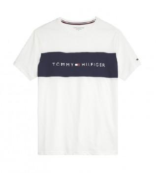 Comprare Tommy Hilfiger CN SS Logo Flag T-shirt bianca