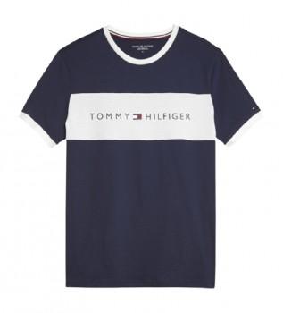 Comprare Tommy Hilfiger T-shirt CN SS Logo Flag Navy