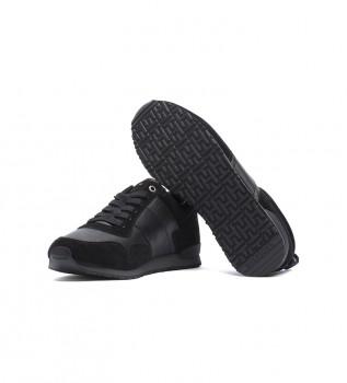 Acheter Tommy Hilfiger Iconic Leather Suede Mix Runner - Baskets en cuir noir