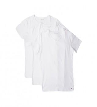 Comprare Tommy Hilfiger T-shirt bianche elasticizzate VN in confezione da 3