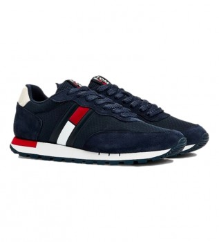 Comprare Tommy Hilfiger Sneakers Retro Mix TJM in pelle blu navy